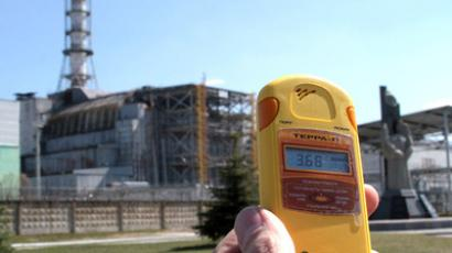 Dosimeter shows the radiation level (RIA Novosti / Grigoriy Vasilenko)