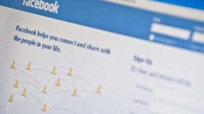 The homepage of social-networking giant Facebook (AFP Photo/Nicholas Kamm)