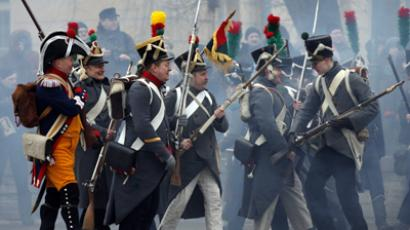 Staging of 1812 war with Napoleon (RIA Novosti / Maksim Bogodvid)