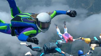 Eighty-eight female daredevils storm sky-high record