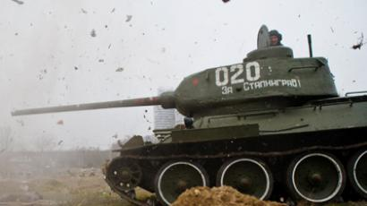 T-34 tank during a mock fight (RIA Novosti / Kirill Braga)