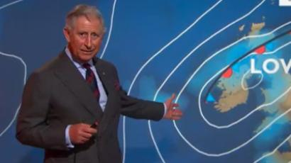 Still photo of Prince Charles at BBC Scotland studio in Glasgow, courtesy of BBC (Video courtesy: BBC)