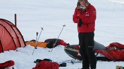 Norway: Britain's Prince Harry takes down his tent during training with the Walking with the Wounded team as they prepare to set off to walk to the North Pole, on the island of Spitsbergen, situated between the Norwegian mainland and the North Pole, on March 31, 2011 (AFP Photo / David Cheskin)