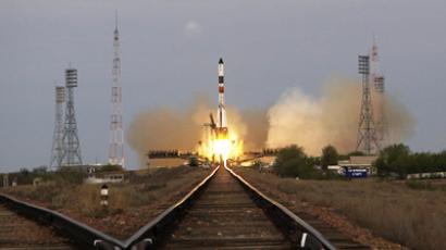 Soyuz-U launch vehicle carrying the Progress M-10M cargo spacecraft is launched from Baikonur Cosmodrome (RIA Novosti / Oleg Urusov)