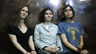 "Members of the female punk band ""Pussy Riot"". (Reuters / Maxim Shemetov)"