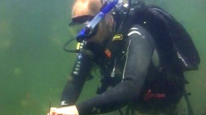 "Putin dived into the deep. Video: courtesy of Russian TV channel ""My Planet"""