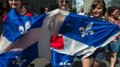 Students protest a hike in tuition fees on June 22, 2012 in Montreal, Canada.(AFP PHOTO / Rogerio Barbosa)