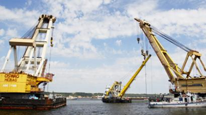 Lifting of the M/V Bulgaria (RIA Novosti / STF)