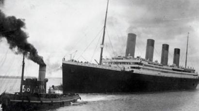 A handout picture received from Southampton City Council on April 4, 2012 shows the Titanic leaving Southampton on her ill-fated maiden voyage on April 10, 1912 (AFP Photo / Southhampton City Council)