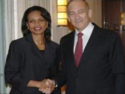 Rice meets Olmert in search for Middle East peace