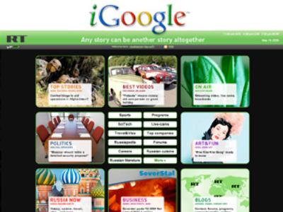 RT – now on iGoogle
