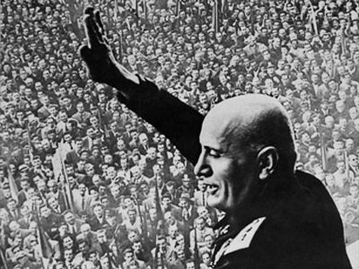 An undated file photo of Italian fascist dictator Benito Mussolini during a political meeting (AFP Photo)