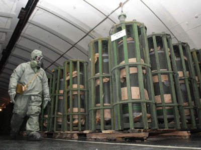 Russian chemical weapons stockpile expiry: January 2013