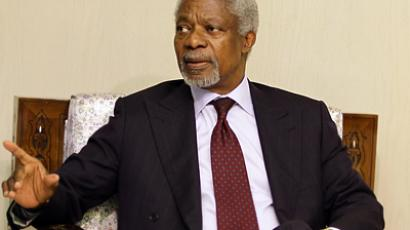 UN-Arab League peace envoy Kofi Annan (AFP Photo / Louai Beshara)