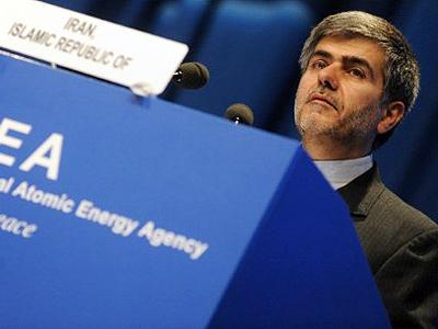 The head of the Iranian Atomic Energy Organization Abbasi Davani speaks during the 55th International Atomic Energy Agency (IAEA) General conference at the IAEA headquarters in Vienna. (AFP Photo/Samuel Kubani)