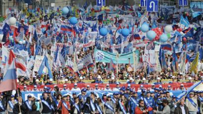 Russian Trade Unions and the ruling United Russia party rally in Moscow (RIA Novosti / Ramil Sitdikov)