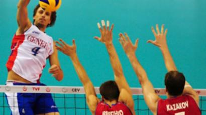 European Volleyball Championships men's semi-final match (AFP Photo / Mustafa Ozer)