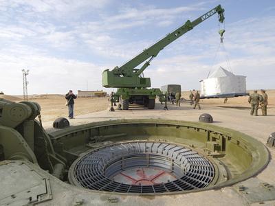 An RS-18 Stiletto intercontinental ballistic missile silo (RIA Novosti / Sergey Kazakh)