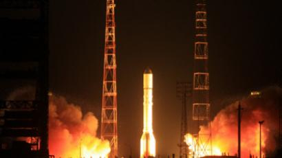 The Proton-M rocket has a take-off weight of 703 tonnes (RIA Novosti / Oleg Urusov)