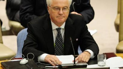 Russia's Ambassador to the UN Vitaly Churkin (AFP Photo / Emmanuel Dunand)