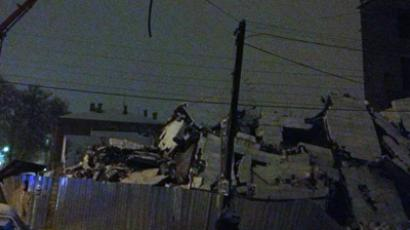 Building collapses in Taganrogm Russia (Image from Twitter/@mainsloth)
