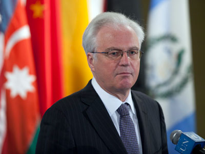 Russian ambassador to the United Nations Vitaly Churkin.(Reuters / Allison Joyce)
