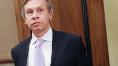 TV presenter Alexei Pushkov  (RIA Novosti / Vladimir Fedorenko)
