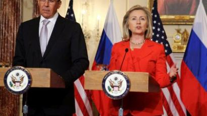 Hillary Clinton and Sergey Lavrov (Alex Wong / Getty Images / AFP)
