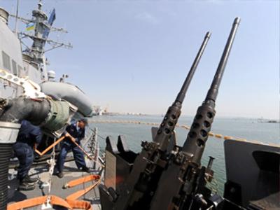 U.S. Navy destroyer McFaul (AFP Photo / Sergei Supinsky)
