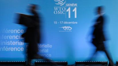 Delegates arrive at the 8th World Trade Organization Ministerial Conference in Geneva December 15, 2011 (Reuters / Denis Balibouse)