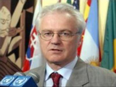 Russian envoy to UN disclaims protesting at Security Council
