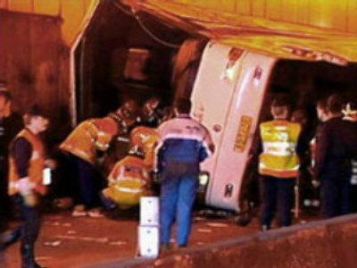 Russians hurt in bus-truck crash in Egypt