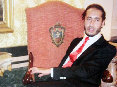 Muammar Gaddafi's son, Al-Saadi (AFP Photo)