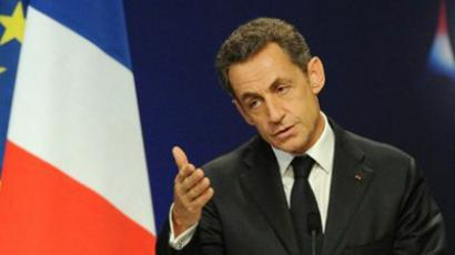 Nicolas Sarkozy at press conference in Cannes on November 3, 2011 (AFP Photo / Pascal Guyot)