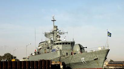 Iranian warships in the Saudi port city of Jeddah, Iranian Navy Commander Rear Admiral Habibollah Sayyari  (Photo by Majid Jamshidi)