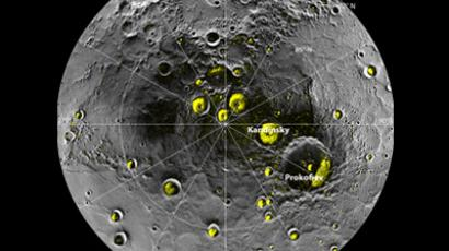 A mosaic of MESSENGER images of Mercury's north polar region is pictured in this handout image from NASA. Instruments aboard NASA's MErcury Surface, Space ENvironment, GEochemistry, and Ranging (MESSENGER) spacecraft studying the planet Mercury have provided compelling support for the long-held hypothesis the planet harbors abundant water ice and other frozen volatile materials within its permanently shadowed polar craters. (Reuters/NASA/Johns Hopkins University Applied Physics Laboratory/Carnegie Institution of Washington/National Astronomy and Ionosphere Center, Arecibo Observatory)