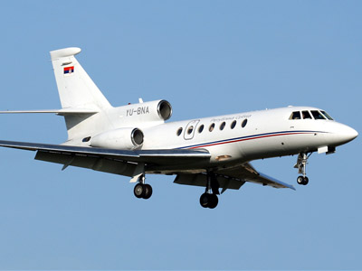 Falcon 50 aircraft (Image from jetphotos.net)