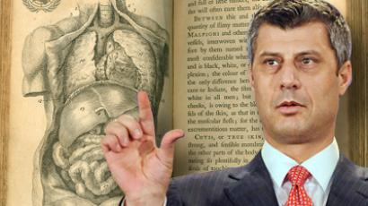 Prime Minister of the government of Kosovo Hashim Thaci.