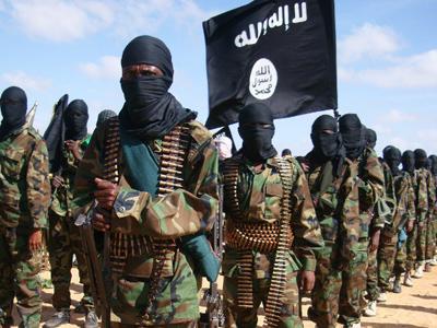 Somali Al-Shebab fighters in Elasha Biyaha, in the Afgoei Corridor (AFP Photo/Mohamed Abdiwahab)