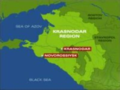 Ship runs aground in Novorossiysk