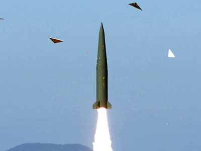 This undated picture released on April 19, 2012 in Seoul by South Korea's Defence Ministry via Yonhap shows the test-launch of its new ballistic missile at an undisclosed location. (AFP Photo/South Korean Defence Ministry via Yonhap)