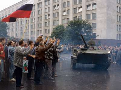 Through blood to democracy: Failed Soviet coup that fostered Russia