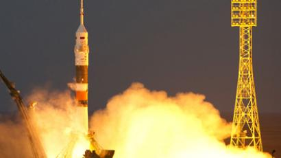 The Soyuz TMA-07M spacecraft lifts off from the Baikonur Space Center in Kazakhstan, carrying three crewmembers for the ISS Expedition 34 and 35 (RIA Novosti / RAmil Sitdikov)