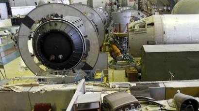 The next generation Angara rocket being assembled. (RIA Novosti /  Alexey Kudenko)