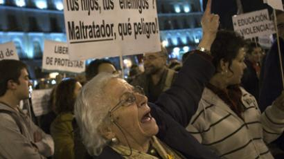 Spain braces for further cuts amid national uproar. (Reuters/ /Juan Medina)