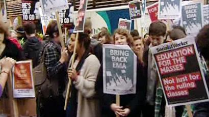Thousands are expected at a student march in London