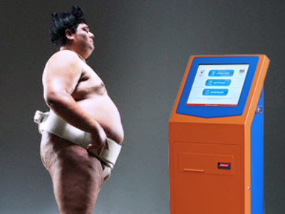 Sumo wrestler stole 90 kg payment terminal