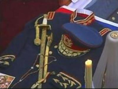 Supporters pay tribute to General Pinochet