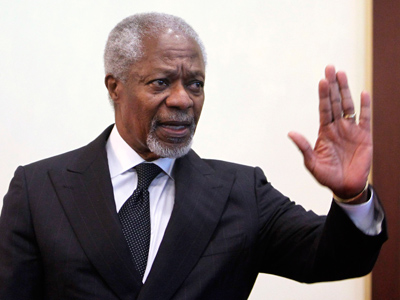 Syrian govt accepts Annan's 6-point peace plan