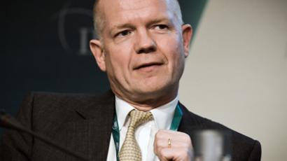 United Kingdom Foreign secretary William Hague, attends the 8th International Institute for Strategic Studies (IISS) Regional Security Summit in the Bahraini capital, Manama on December 8, 2012 (AFP Photo / Mohammed Al-Shaikh)